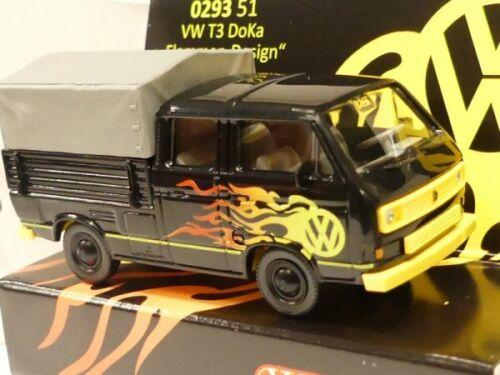 1//87 Wiking VW T3 DoKa Flammen-Dekor 0293 51 Sondermodell Reinhardt