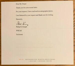 Eficiente Leyes y regulaciones de ultramar  Phil Knight, 100% Auténtico Autografiado carta! fundador de Nike Inc,  impresionante | eBay