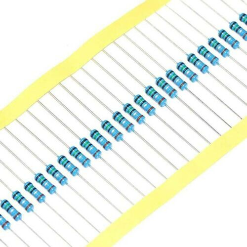 50 Stück Metallfilm Widerstand 1//2W 0,5W 1/% Toleranz 0,1//6,8//47//51Ohm 6,2 M Ohm