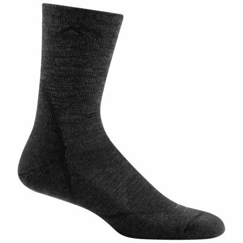 Darn Tough Mens Light Hiker Micro Crew Light Cushion Sock Black