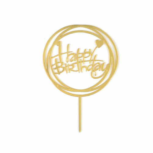 Lots Style Cake Topper Happy Birthday Cake Decor Acrylic Party Wedding Supplies