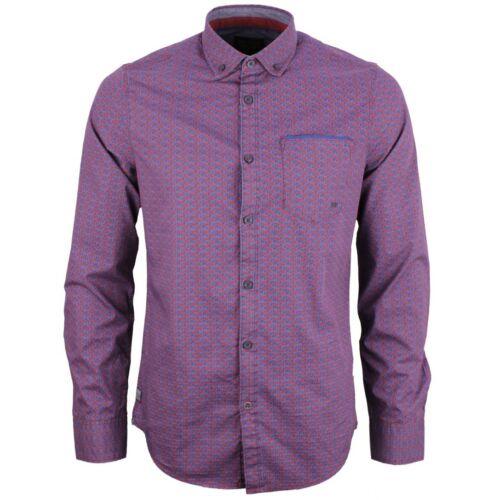 PME LEGEND tempo libero Camicia Rosso Blu minimo motivo psi186201 8207