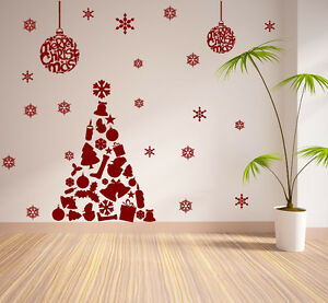 Details About Christmas Window Decoration Xmas Tree Stickers Cristmas Wall Stickers S62
