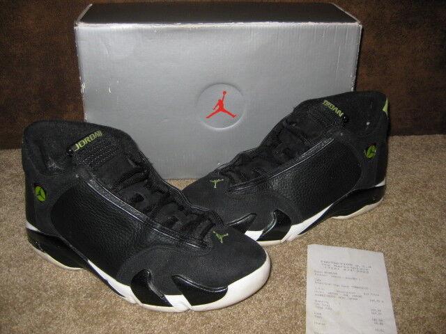 Nike Air Jordan OG 14 XIV Indiglo Black Mens 7 in Original Box 136017