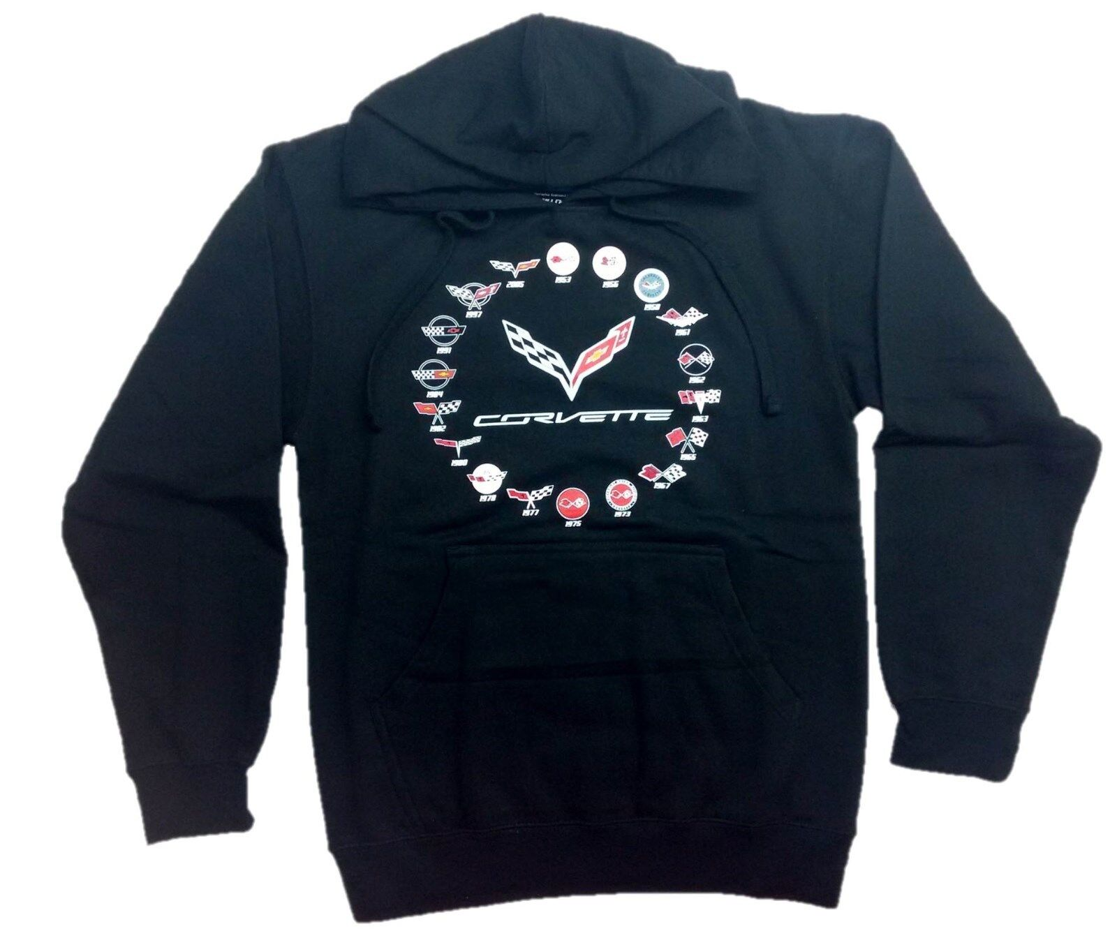 Corvette Hooded Sweatshirt w/ Screen Printed Logos by JH Design