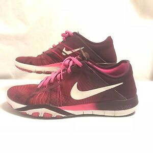 Details about Pink Nike Free TR 6 Print Women's Training Shoes, Size 7, 833424 600