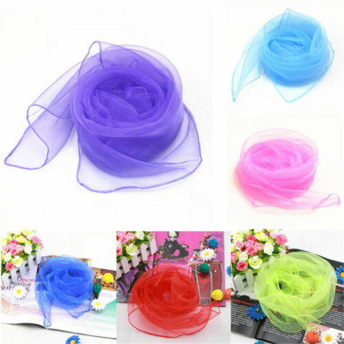6x Multi-coloured Sensory Autism Scarves Kids And Aults Relieve Stress Dance Toy