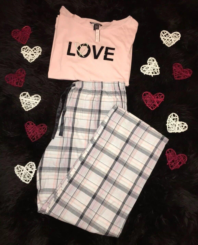 Victorias Secret Deux Pièces Pyjama Pyjamas Set Größe L