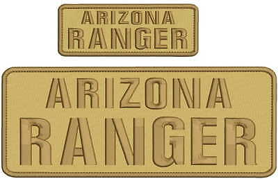 Arizona Ranger embroidery patches 4x10 AND 2X5 hook ON BACK