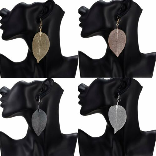 Fashion Hollow Rearl Leaf Women Lady Ear Hook Drop Dangle Stud Earrings Jewelry