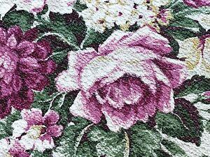 SALE True Shabby Chic Barkcloth Vintage Fabric Drape Curtain Hollywood Glam