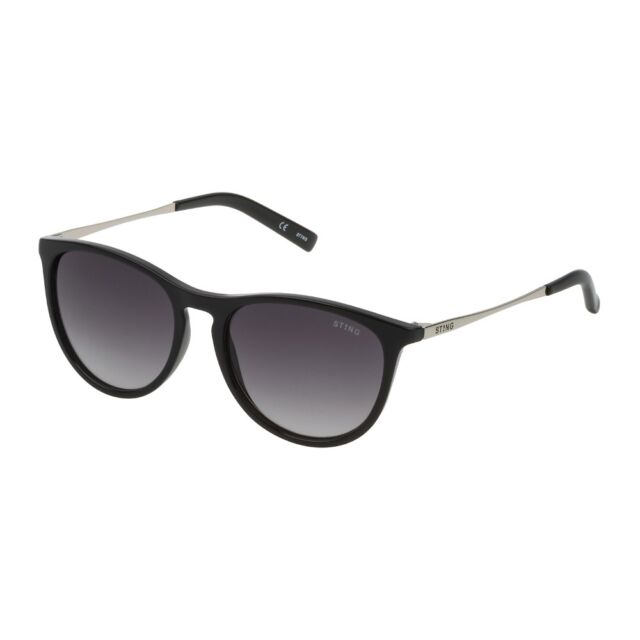 015c9212eb Gafas de Sol Sting Selfie 1 Junior Negro Brillante Lentes Smoke Gradiente  SSJ661