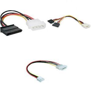 Ide Molex 4 Pin Male Sata 15 Pin Female Floppy Power