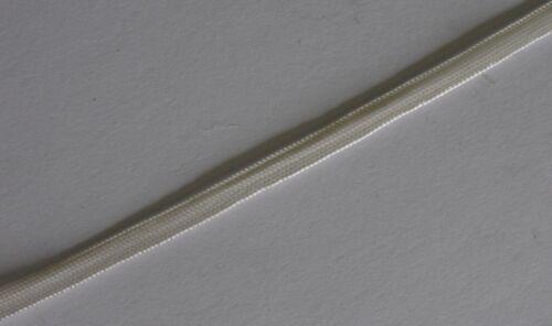 3 mètres Crème//ivoire style militaire Tresse 5 mm-Vintage français rayonne Gimp