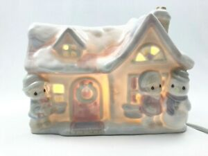 Vintage-Precious-Moments-Enesco-Sugar-Town-House-Nightlight-Corded-357510L-Box
