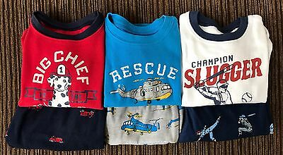 2T EUC Baseball, Firetruck /& Dog, Helicopter Carter/'s Toddler Boy/'s Fleece PJs