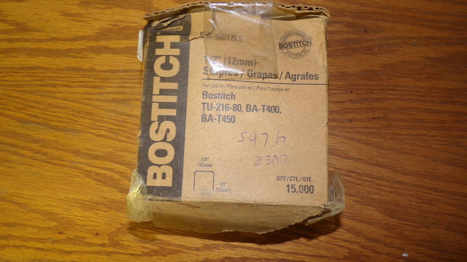 NEW Bostitch TU-216-80 BA-T400 BA-T450 1 2  Staples 4 Pound Box