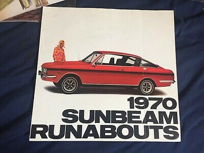 1970 Sunbeam by Chrysler Alpine Alpine GT Arrow Sales Brochure NOS Canadian New