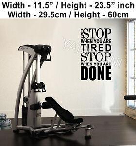 Detalles Acerca De Big Gimnasio Pegatina Motivación Gym Pared Adhesivo Crossfit Entrenamiento Vinilo Arte Calcomanía Mostrar Título Original