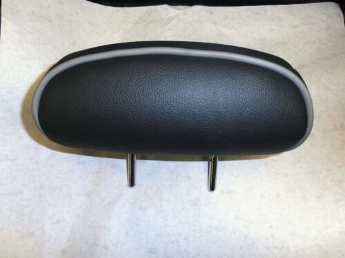 ROVER 75 TOURER /& Saloon Rear Headrest Charcoal leather With Grey Piping New