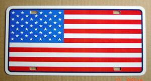 UNUSED-AUTO-PLATE-U-S-A-FLAG