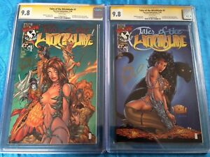 Tales-of-the-Witchblade-1-2-covers-Image-CGC-SS-9-8-Signed-by-Tony-Daniel