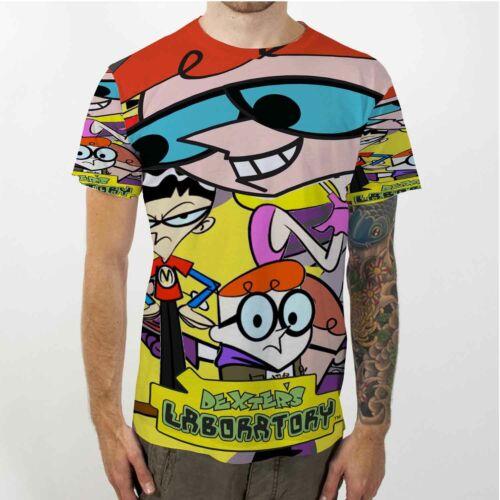 Dexter/'s Laboratory T-shirt Fullprint Tee New Men/'s Tshirt