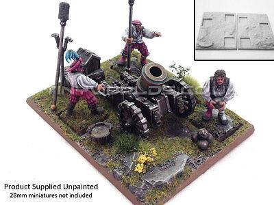 Resin Artillery Movement Tray Base Unpainted - Cannon Mortar - Warhammer Empire