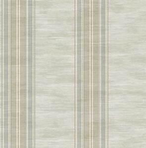 Tapete-Designtapete-Glanz-Moire-BlockStreifen-Taupe-Schlamm-Grau-Gold