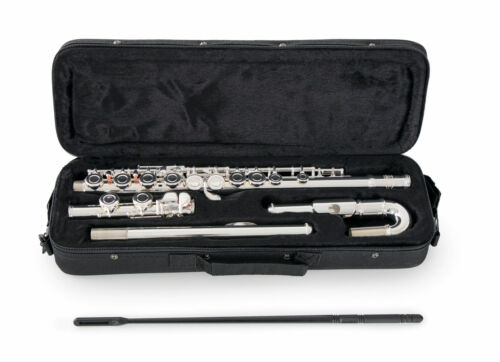 Classic Cantabile FL-200U Querflöte Flöte E-Mechanik Neusilber Wischerstab Etui