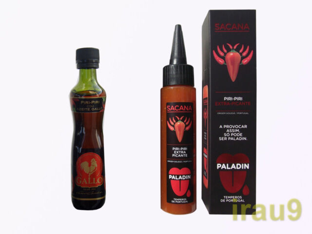 Hot Sauce with Olive Oil 50ml & Sacana extra spicy 75ml, Portuguese, two bottle