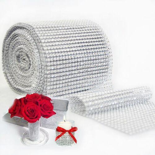90cm//Roll Ribbon Bling Diamond Mesh Wrap Tape Tulle Crystal Wedding Xmas Decor