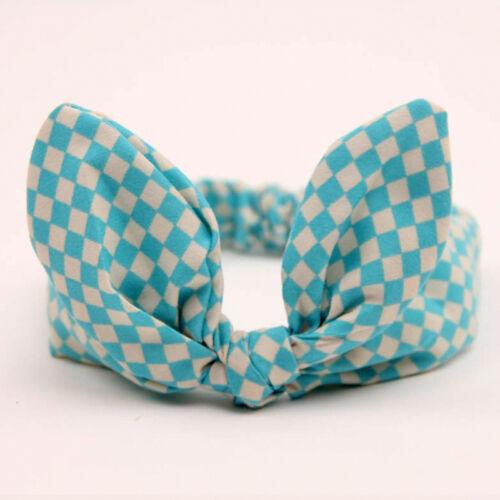 Baby Girl Kid Infant Rabbit Bow Knot Headband Elastic Hair Accessories Headwear