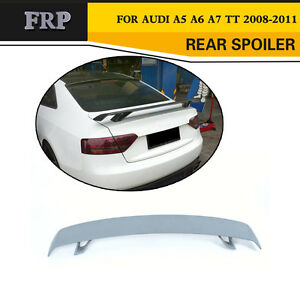 rear trunk boot lip spoiler wing fit for audi a5 a6 a7 tt. Black Bedroom Furniture Sets. Home Design Ideas