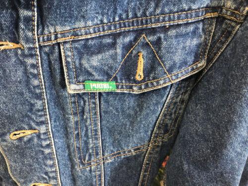 1980s Vtg Puma Jacket Tyskland Short Cut Jeans 3 Sz Bomber Denim IgBCqrgw