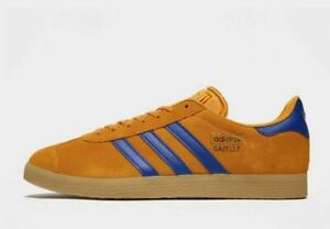 ADIDAS-Originals-Gazelle-in-profondita-giallo-amp-ROYAL-BLUE-MEN-039-S-TRAINER-LIMITED-STOCK