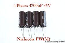 PW(M) 4 pcs Capacitor Nichicon 4700uF 35v 105C 18x40mm Low ESR Radial. US Seller