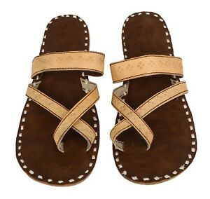 640e243c6452 US 6.5 - 8 Indian Leather Handmade Men s Flip-Flop Sleepers Thongs ...