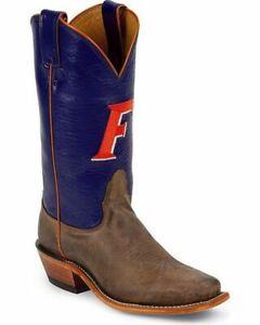 Nocona-LDUF22-Women-039-s-Florida-University-Blue-Tan-Vintage-Branded-College-Boots