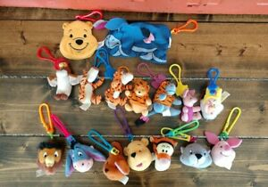 McDonald's Happy Meal Toys Lot Winnie the Pooh/ Snow White Plush Clips