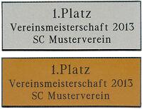 Pokal-schild, Schilder (pokale, Trophäe) Gravurschild, Pokalschild, Gravur Neu