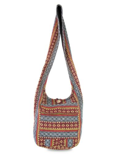 Details about  /Hippie Hobo Sling Crossbody Bag Woven Aztec Ikat Boho Shoulder Hobo Book Purse