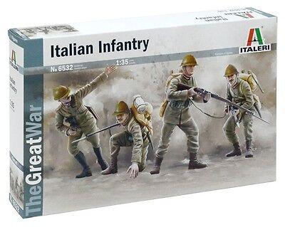 Italeri 1:35 WWI Italian Infantry 1915 Plastic Model Figures 6532 ITA6532