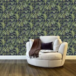 paradiso tropical leaves pattern wallpaper jungle leaf forest non