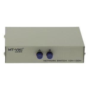 4 Port Manual RJ45 Cat5e Cat6 Switch Selector Box Robust Metal