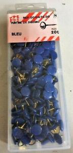 200 Puntine da disegno cancelleria scuola ufficio puntina colore blu poster