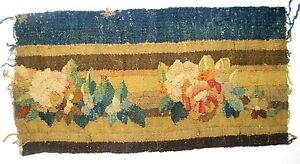 A-Gorgeous-Antique-Tapestry-Border-w-Flowers-Free-USA-Shipping