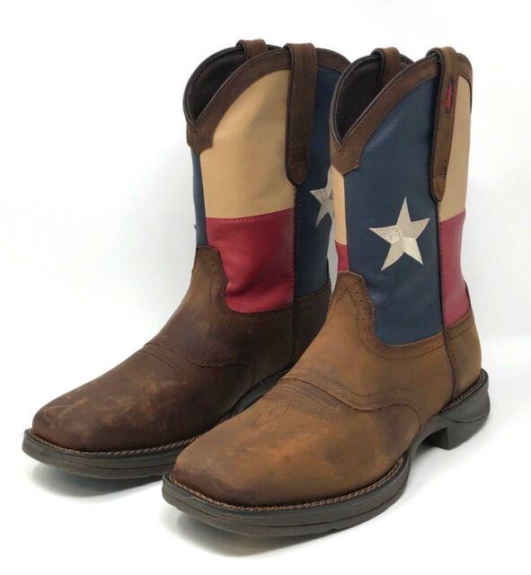 1548a5ec1f0 Durango Western BOOTS Mens Rebel Patriotic Pull on 12 D Brown Db4446