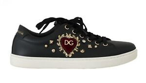 NEW DOLCE \u0026 GABBANA Shoes Black Leather