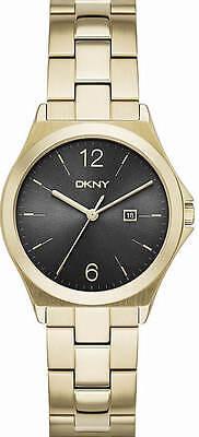 Women's DKNY Parsons Gold Tone Black Dial Watch NY2366